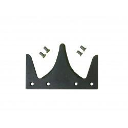 Section avec rivets courts pour coupe avancée tournesol.